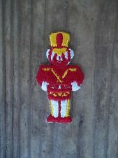 Vintage Toy Soldier Applique Patch RED Gold WHITE Iron Sew On NOS 2-1/2 x 1-1/4