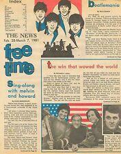 Beatles John Lennon Paul McCartney George Harrison Ringo Starr fév Mar 7 1981 C1