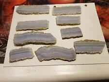 BLUE LACE AGATE SLABS Lot 8 pieces cabbing cabachon