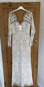 Next Bridal Gown Dress Illusion Vtg Style Uk 10 Bnwt Rrp £395 Wedding
