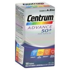 Centrum Advance 50+ 100 Tablets Multivitamin - For Immunity, Eye & Heart Health