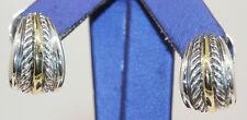 GORGEOUS 18K/STERLING DAVID YURMAN HUGGIE EARRINGS! #J4