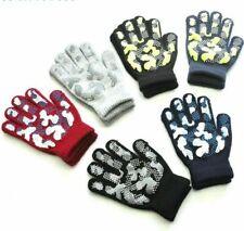 Children Winter Warm Knit Gloves PVC Anti-slip Gloves Children Outdoor Mittens