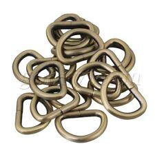 2.5cm Inside Diameter Metal D Ring Loop Ring Strap Belt Bag Buckle Set of 20