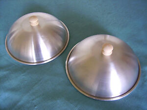 BBQ Steak and Burger Basting Lids 7inch set of 2 Cheese Melting Dome Covers