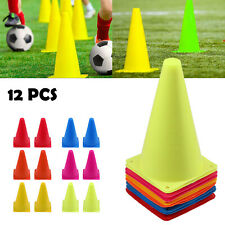 12X Agility Marker Cones Slalom Football Skating Traffic Rugby Sports Kit AUS
