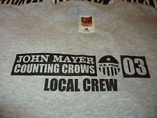 John Mayer/Counting Crows Rare Vintage Crew Tour Shirt ( Size XL ) NEW DEADSTOCK