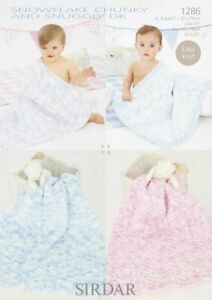 Sirdar 1286 Blankets in Snuggly Snowflake DK & Chunky - Knitting Pattern