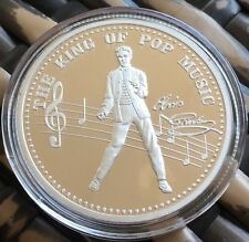 Elvis Presley Medallion Finished In Silver .999 1oz Weight Coin Gift 1935-1977