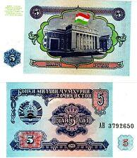 TAJIKISTAN Billet 5 ROUBLES 1994 P2 UNC NEUF