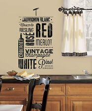 WINE LOVERS WALL DECALS 22 New Black Kitchen Stickers Deco Home Decor