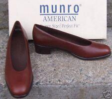 NIB MUNRO AMERICAN $99 SZ 7 AAA S Brown Leather Dress Pumps 7 Extra Narrow