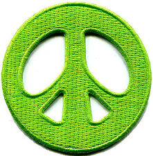 Peace sign hippie retro love weed embroidered applique iron-on patch new S-15