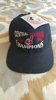 NEW Cleveland Indians 1996 Central Division Champions Hat Cap WAHOO VTG LOGO 7