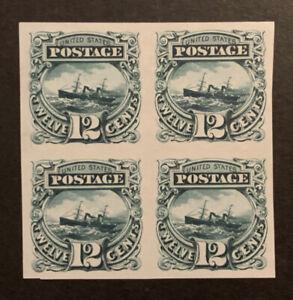 TDStamps: US Stamps Scott#117P3 Unused LH NG Block of 4