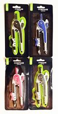 *4 PACK* Compass ASSORTED COLORS Casemate School Home Office Plastic *FAST SHIP