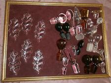 Lot de 20 bouchons de carafe en verre + 6 feuilles porte couteaux décor de table
