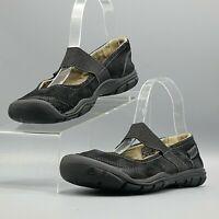Keen Rivington II CNX Black Suede Slip On Comfort Mary Jane Hiking Flats /US 6.5