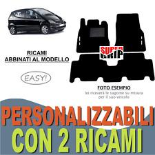 PER MERCEDES CLASSE A W168 TAPPETI AUTO MOQUETTE E FONDO GOMMA + 2 RICAMI EASY