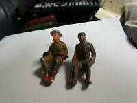 Barclay Manoil Lead Toy Soldier Two Sitting Soilders