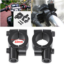 "8mm Thread 7/8"" Motorcycle Rearview Handlebar Mirror Mount Holders Adapter Clamp"