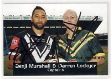 DUAL SIGNED DARREN LOCKYER BENJI MARSHALL 2011 FOUR 4 NATIONS NRL CAPTAINS CARD