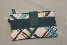 NEW THIRTYONE Retro Metro Wallet Foldover Clutch sea plaid