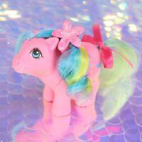 Vintage My Little Pony BABY BRIGHTBOW Pink Pegasus Rainbow G1 MLP Rehair BA973