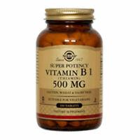 Vitamine B1 (Thiamine) 100 Tablettes 500 MG par Solgar