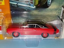 1/64 JOHNNY LIGHTNING 1969 DODGE DART SWINGER RED AND BLACK STRIPE Q10