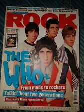 CLASSIC ROCK MAGAZINE OCT 2003 THE WHO KEITH MOON DEEP PURPLE TOMMY BOLIN