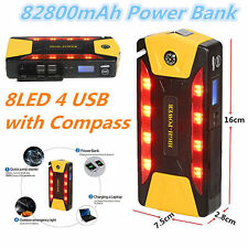 12V 82800mAh Portable Car Jump Starter Pack Booster Charger Battery &Power Bank