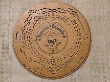 Disco di cartone per Organetto a Manovella Mama 'sto Passariello canzone Napoli