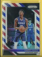 Harry Giles 🏀 2018-19 Panini Prizm PRIZMS RWB Card # 201 👑 Sacramento Kings