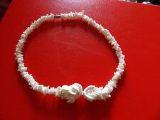 PRETTY SURF STYLE SUMMER HOLIDAY TUMBLED SHELL PIECE  NECKLACE    17