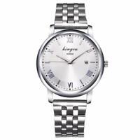Luxury Men's Stainless Steel Waterproof Quartz Analog Military Watch Wrist Watch