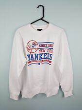 WOMENS VTG WHITE NEW YORK YANKEES USA PRO COLLEGE MLB ATHLETIC SPORTS SWEATSHIRT