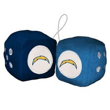 Los Angeles Chargers Fuzzy Dice NFL Football Team Logo Plush Car Truck Auto
