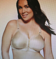 Playtex 18 HOUR: Size: 18 D. Sensationally Sleek: Front-Close NUDE, WireFree Bra
