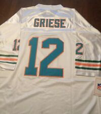 MIAMI DOLPHINS #12 BOB GRIESE  WHITE  THROWBACK  JERSEY SIZE 48