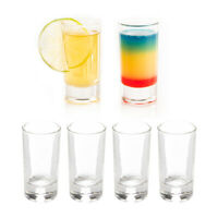 6pk Tall Shot Glass Set 1.2oz Drinking Glasses With Heavy Base Party Glassware
