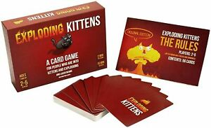 BRAND NEW-Exploding Kittens Original Card Game -Family Fun, FREE SHIPPING