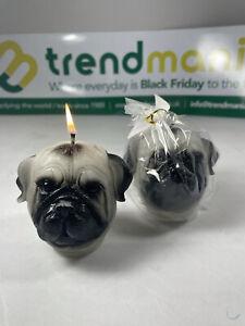 12 Pug 3D Candles