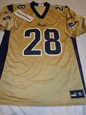MARSHALL FAULK #28 Puma St. Louis Rams Jersey size Large Adult Football  NFL