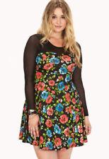 Plus Size Long Sleeve Skater Dresses for Women