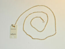 COLLIER CHAINE MAILLE FORCAT 45CM PLAQUE OR NEUF