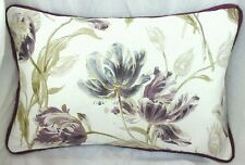 "2 Shabby chic cushion cover laura ashley Gosford Plum 12""  X 18"" piped  Plum"