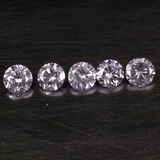 0.19Ct Sparkling Purple Pink Loose Round Natural Diamond Lot