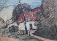 Dessins et lavis du XXe siècle et contemporains originaux signés paysage