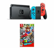 NINTENDO Switch Neon Red & Super Mario Odyssey